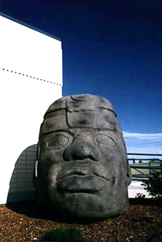 "Norman Herrett and Leonard Parkin, ""Olmec Head Replica"" (1972, foam"