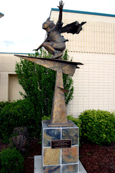 "Gary Lee Price, ""Paper Airplanes: Journeys of the Imagination"" (2004, bronze). A gift of the Seagraves Family Foundation."