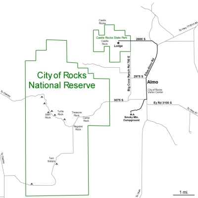 City of Rocks Area Map